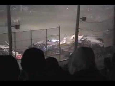 Bridgeport Speedway Crash 4-5-08
