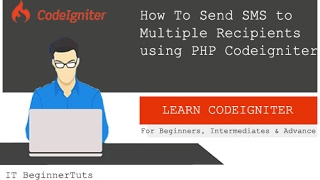 How to Send SMS/Message to Multiple Recipients using PHP Codeigniter