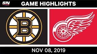 NHL Highlights   Bruins vs Red Wings – Nov. 8, 2019