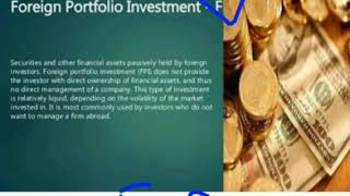 MEANING & DIFFERENCE BETWEEN FDI(FOREIGN DIRECT INVESTMENT) & FPI( FOREIGN PORTFOLIO INVESTMENT)