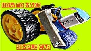 Evde mini basit bir araba yapmak için nasıl çok basit||DD Teknik yaratıcıları||