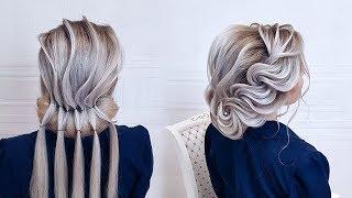 Beautiful hairstyles step by step.Wedding hairstyle.Braid rope