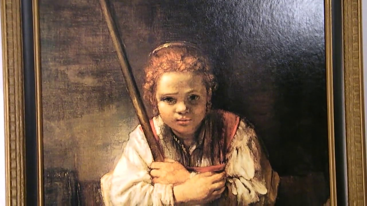 Girl With A Broom By Rembrandt Youtube
