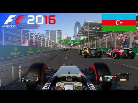 F1 2016 - 100% Race at Baku City Circuit, Azerbaijan in Pérez' Force India