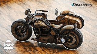 "Behemoth, motocykl ""Alien"" i amerykański Chopper? Motobanda odwiedza Game Over Cycles!"