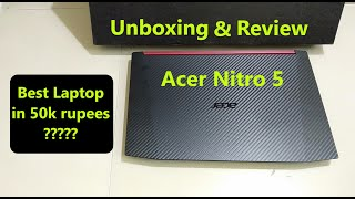 Acer Nitro 5 AN515-52 Laptop Unboxing Price & Review - Budget Gaming and Video Editing Laptop India