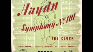 "Haydn / Ernest Ansermet, 1948: Symphony No. 101 in D major - ""Clock""  (Hoboken 1/101) - Complete"