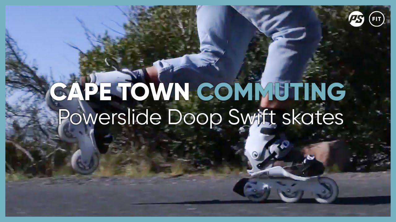 ee897311212 Cape town commuting on Powerslide Doop Swift 100 skates - YouTube