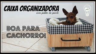 CAIXA ORGANIZADORA COM PALITO DE PICOLÉ