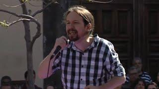 """Iglesias dice que si PSOE no pacta con Rivera es porque """"se ha vuelto loco"""""""