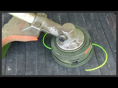 How to replace string trimmer line
