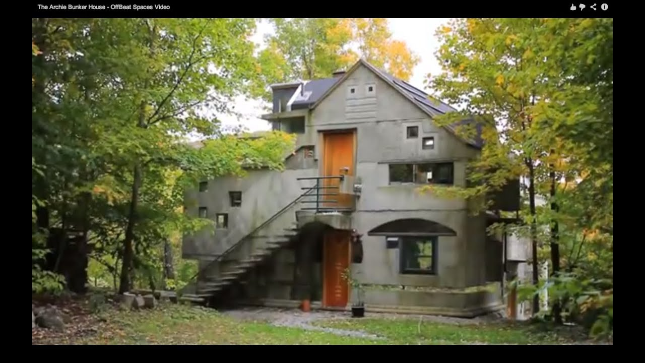 The archie bunker house offbeat spaces video youtube - The subterranean house fighting small spaces ...