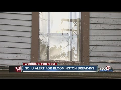 No IU alert for Bloomington break-ins