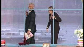 Fern & Phil wave to Will Smith on boat on river thames - This Morning January 2009