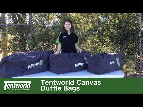 Tentworld Canvas Duffle Bags - Quick Look, Sizes & Specifications Revealed