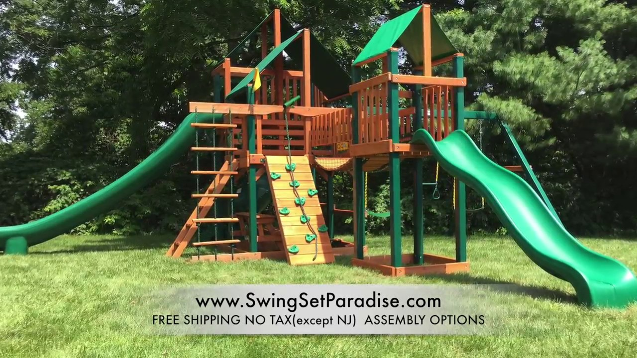 Gorilla Treasure Trove Ii Sunbrella Swing Set 01 1034 Ts 2 Review