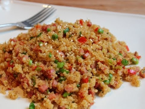 Pork-Fried Quinoa - Low-Fat Pork-Fried Rice Recipe with Quinoa