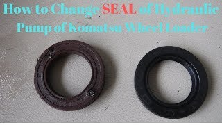 How to replace a leaking oil seal of Hydraulic pump
