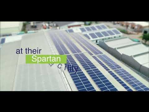 Bidvest laundry powered by Electech Renewables and Sunworx