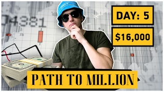 How To Make Money Online - Binary Options - Path to $1,000,000 Day 5 - $16,000