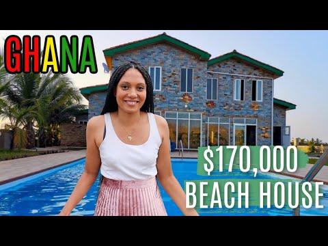 WHAT $170,000 GETS YOU IN GHANA | BEACH HOUSE IN PRAMPRAM | Building A House In Ghana