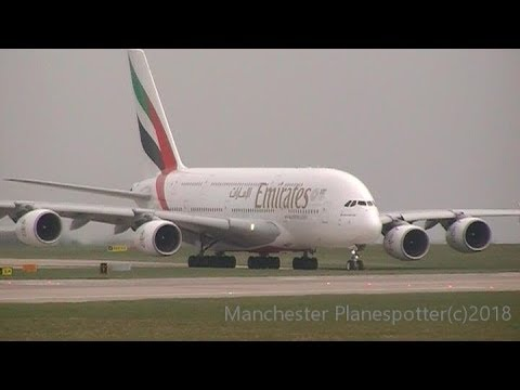 Morning And Afternoon Plane Spotting At Runway 23L At (MAN) Manchester Airport On 14/04/2018