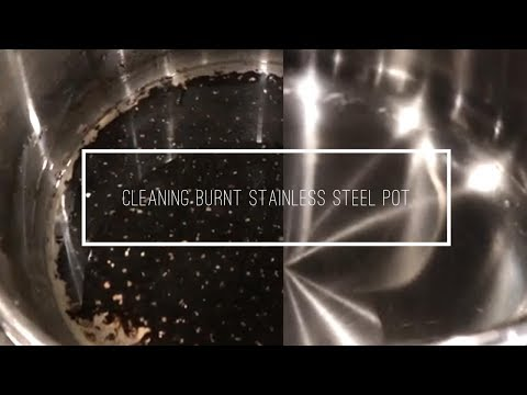How To Clean Burnt Stainless Steel Pot Or Pan Easily In Few Mins | Cleaning Burnt Vessel At Home