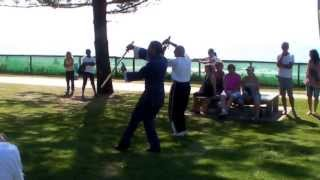 WTCQD Burleigh Heads Gold Coast Australia 2013 6 Sword Demo