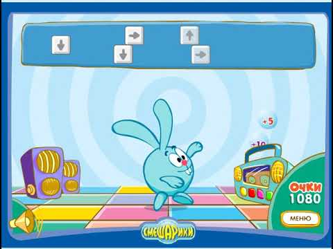 Смешарики онлайн игра: Крош танцует - YouTube