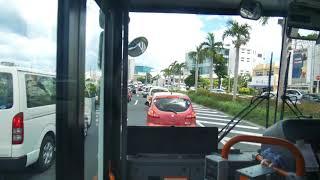 【前面展望】那覇空港~那覇バスターミナル~ムーンビーチ~名護バスターミナル【那覇バス120系統・路線バスで北上中!】