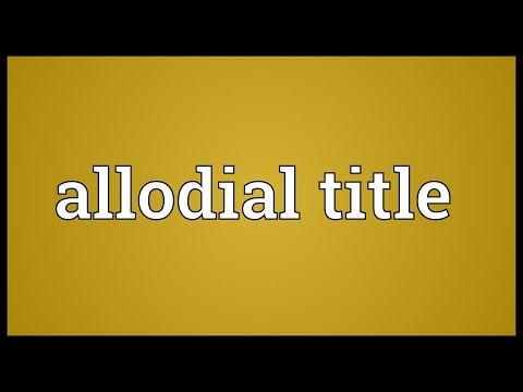 Header of allodial