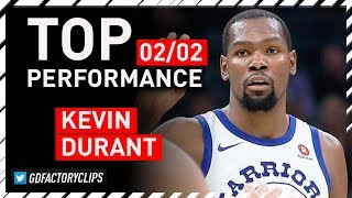 Kevin Durant TOP Full Highlights vs Kings - 33 Pts, 6 Ast | 2018.02.02