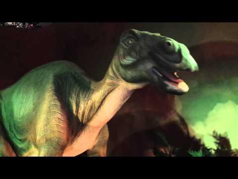 Dinosaurios Massospondylus y Edmontosaurus
