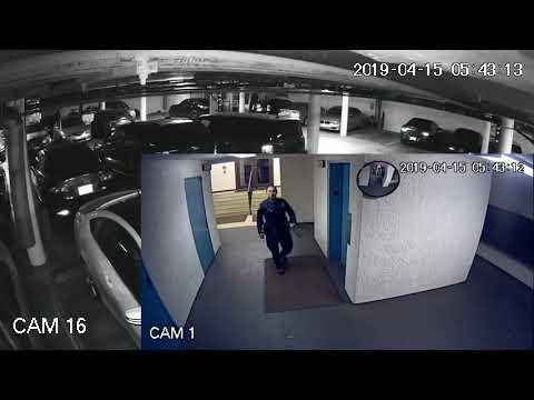 Parking Garage Prowler Just Missed by the Cops - Night Hawk Monitoring