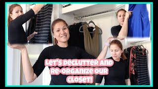 DECLUTTER WITH ME | CLOSET CLEAN OUT| jenrammenvlogs
