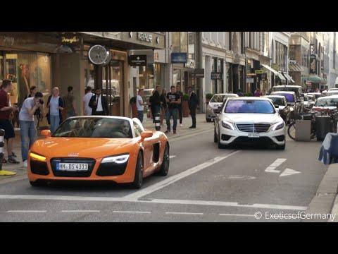 Supercars in Hamburg Summer 2015 - Aventador, C63 BS, AMG GT, R8