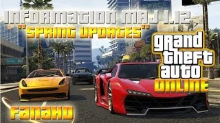 "INFO MISE A JOUR 1.12 ""SPRING UPDATES"" ( ARMES, VOITURES, DOUBLE APPARTEMENTS ..) -GTA5 ONLINE"