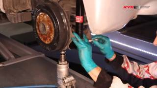TOYOTA Aygo, Citroen C1, Peugeot 107 - REAR - Задние амортизаторы KYB установка