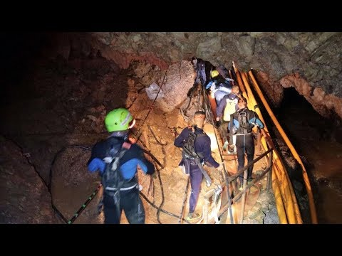 BREAKING NEWS: First 2 Boys Rescued from Cave in Thailand