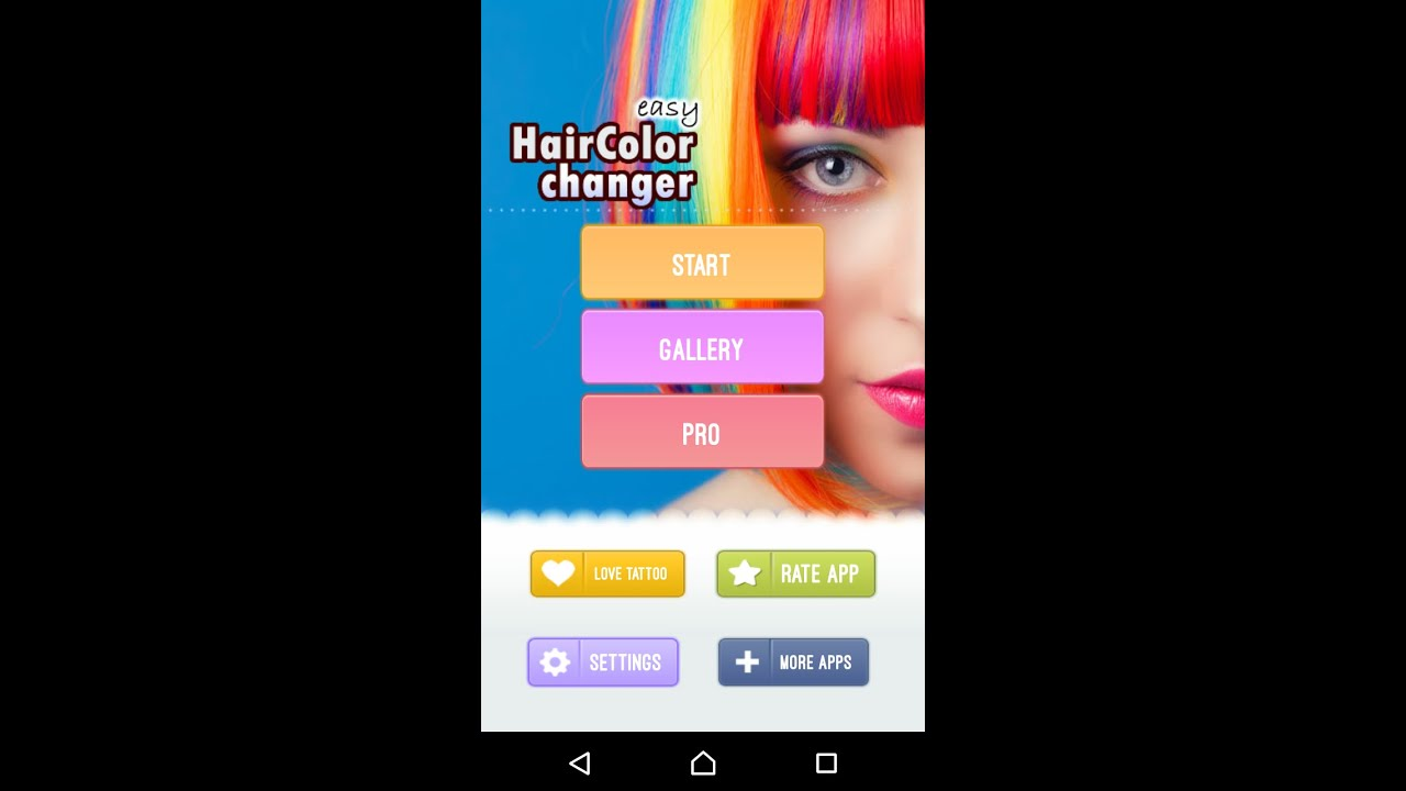 Easy Hair Color Changer - android app - YouTube
