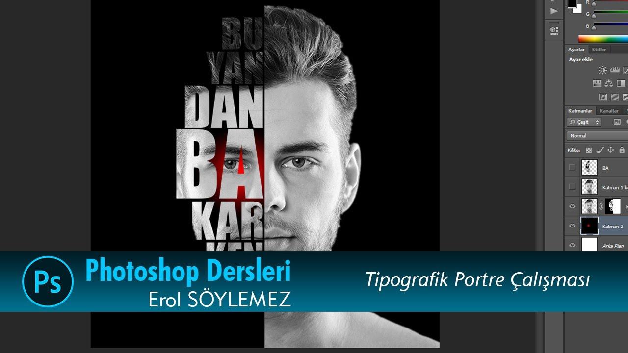 Photoshop Tipografik Portre _ Tyhography portrait _ İsmail Doğan