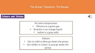 C4 9   The Group 7 Elements Higher Tier Summary