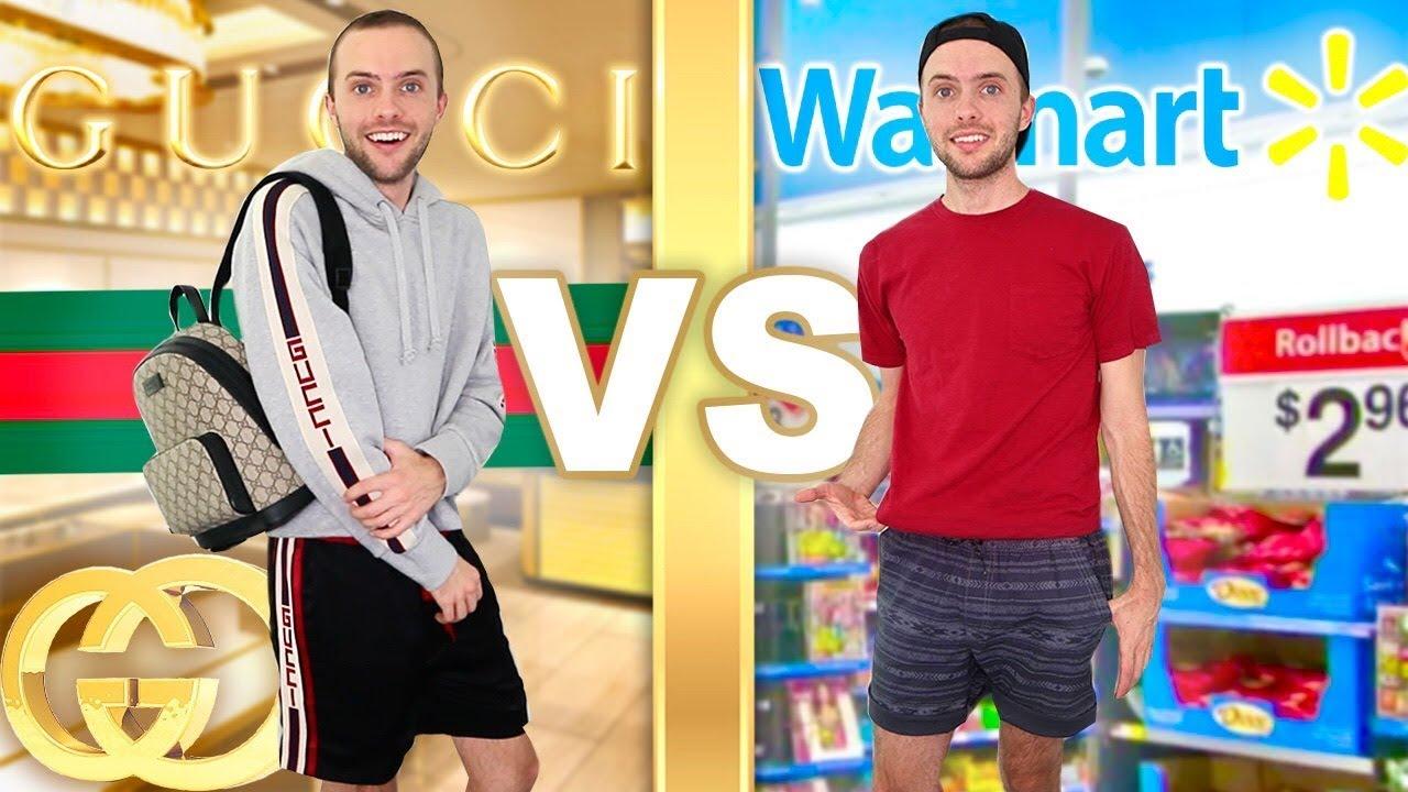 344254b67f2 I Wear GUCCI vs WALMART For A Week! - YouTube
