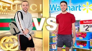 I Wear GUCCI vs WALMART For A Week!