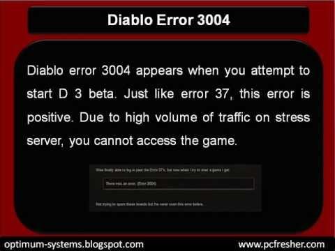 How To Fix Diablo Error 3004