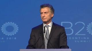 El presidente Mauricio Macri participó de la sesión final del trabajo realizado por el B20