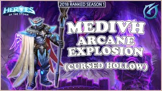 Grubby   Heroes of the Storm - Medivh - Arcane Explosion  - HL 2018 S1 - Cursed Hollow
