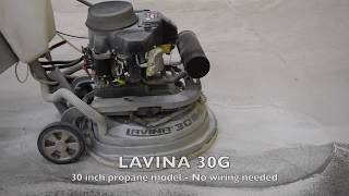LAVINA Floor grinders and polishers, industrial floor grinding and polishing job