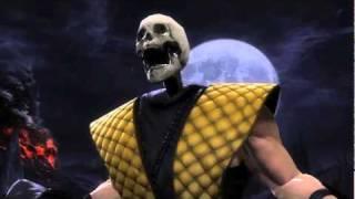 Mortal Kombat 9 Scorpion Classic Costume e Fatality