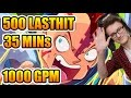 Miracle- Dota 2 500 Lasthits In 35 Minutes 1000gpm Antimage video